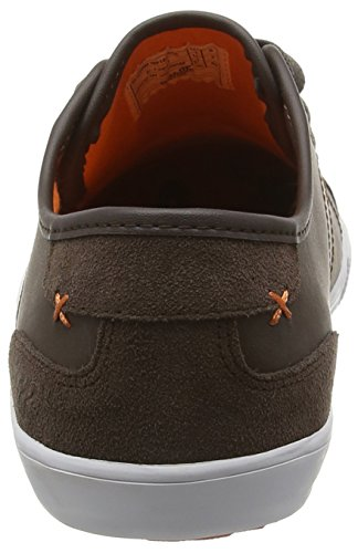 Boxfresh Mitcham SM Lea/Sde DK Brn/Org, Baskets Basses Homme Brown (Dark Brown/Orange)