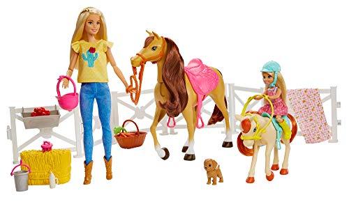 Barbie FXH15 - Reitspaß Spielset mit Barbie (blond), Chelsea, Pferd und Pony, Puppen Spielzeug ab 3 Jahren