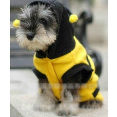 Kostüme Bee Bumble Hund (HUAYANG Bumble Bee Stil Welpen Apparel verkleiden sich Kostüm (#)