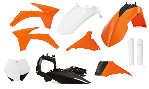 Acerbis Full Plastic Kit - Original 11 , Color: Orange 2205282882