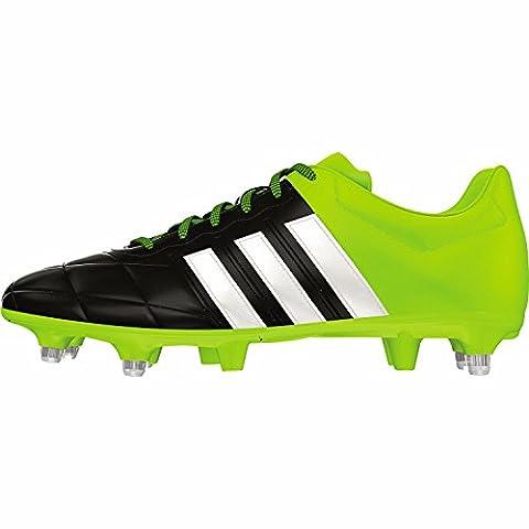 adidas Herren Fussballschuhe ACE 15.3 SG Leder core black/ftwr white/solar yellow 42 2/3