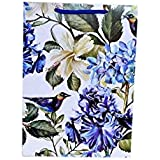 Arrow Paper Products White Hibiscus Gift Bags for Gifting, Weddings, Birthday, Holiday Presents (Pack of 10, 28x20x7.5 cm)
