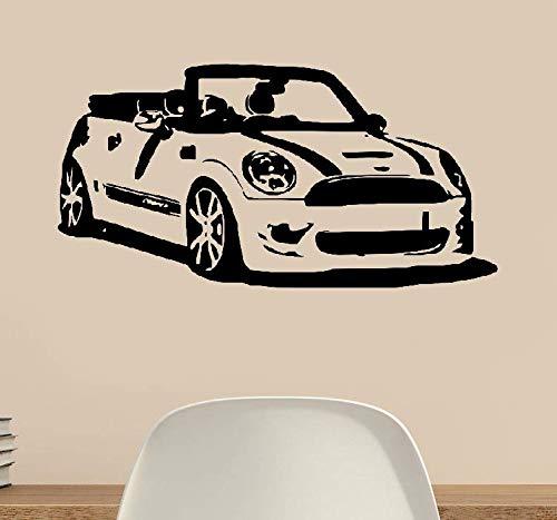 wandaufkleber 3d Wandtattoo Kinderzimmer Mini Cooper Convertible Car Wohnzimmer Vinilos Dekoration Oldtimer