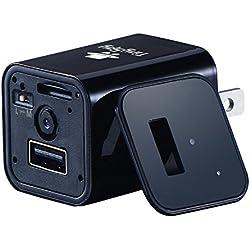 Cargador USB para Telefono por TinySpy| Cámara Escondida con Grabación Continua y Detector de Movimiento | Compatible con Android y iOS Sistema de Cámara Espía