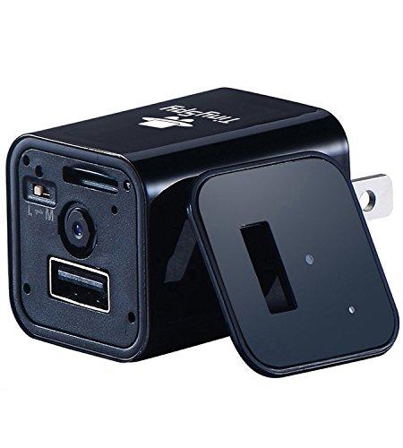 Spion Kamera mit USB Handylader | Ununterbrochen & Bewegungssensor Versteckte Kamera | Android & iOS Kompatibles Spion Kamera-System | Tragbare Versteckte Kamera für Zuhause,von TinySpy Versteckte Usb