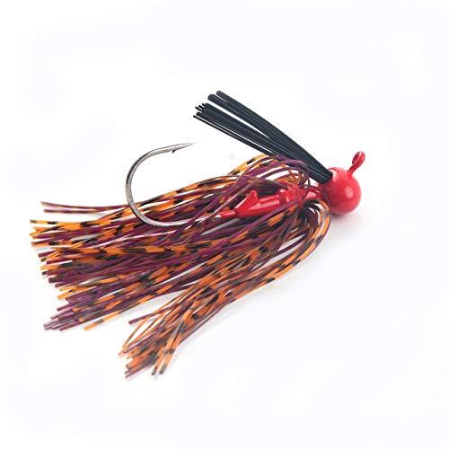 1Pcs 12g Spinnerbait Großer Mund-Bass-Fisch-Metallköder Sequin Bart Pike Angelausrüstung Gummi Jig Weiche Fischköder (rot) DEjasnyfall -