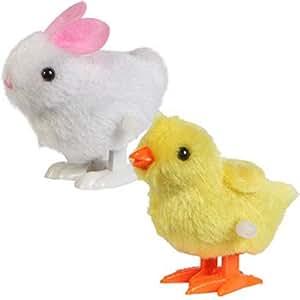 Tingerchin Nouveaux Jouets pour Bébés Enfant Vent Hopping Poussin Jusqu'à Pâques et lapin