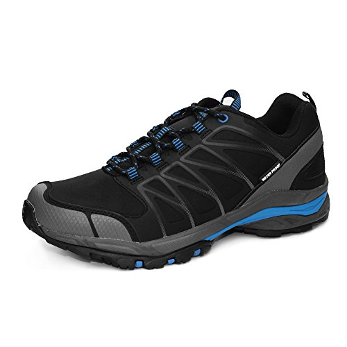 Herren Wanderschuhe, GRITION Wasserdicht Slip On Running Wanderschuhe Outdoor Leichte Schnürschuhe Trainer Knöchelschutz Winter Warm Atmungsaktive Schuhe (44 EU, Low Rise) (Männer Slip Resistant Schuhe)