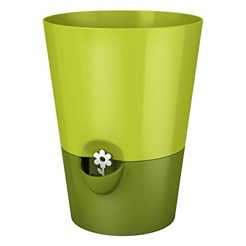 Emsa 517531 Kräutertopf für frische Kräuter, Selbstbewässerung, Wasserstandsanzeiger, Ø 13 cm, Grün, Fresh Herbs