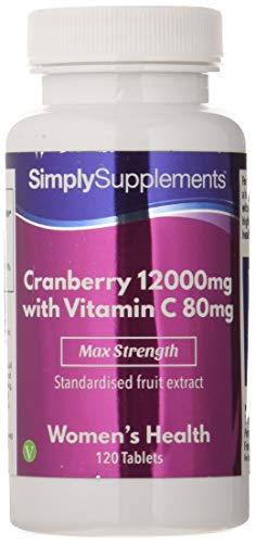 Arándanos rojos 12000mg - ¡Bote para 4 meses! - Apto para veganos - 120 comprimidos - Simply Supplements