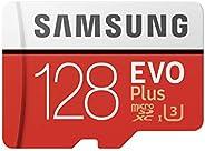 SAMSUNG MB-MC128HA/APC EVO Plus 100 MB/s Micro SD SDXC Card, Red - 128 GB