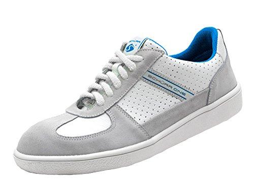 Sneaker Di Sicurezza Schürr Una Scarpa Di Sicurezza Con Cappuccio In Acciaio Nel Look Sneaker, S1 Bianco-blu