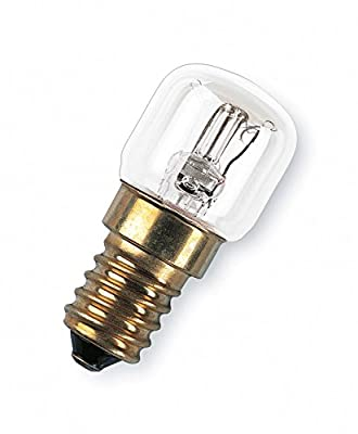 Osram oven Light E14 up to 300 Degrees Screw Base/Clear, 2700 K, Warm White, 15 W : everything 5 pounds (or less!)