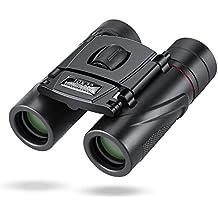 Mini prismáticos, komake Visión Nocturna Prismáticos, Mini compacto plegable HD Binocular prismáticos resistente al agua Prismáticos Telescopios, 10x 22zoom para los Conciertos, Observación de aves, viajes, Sightseeing, escalada