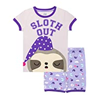 Harry Bear Girls Sloth Short Pyjamas