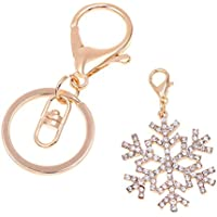 Schneeflocke Schlüsselanhänger Miniblings Anhänger Schlüsselring Eisblume Winter