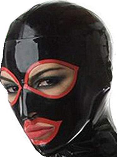 100% Naturlatex Maske Gummi Essen SM Fetisch Volle Bondage Maske