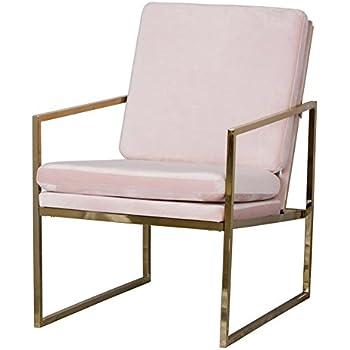 Mr Do Armchair Velvet Light Pink Lounge Chair Upholstered