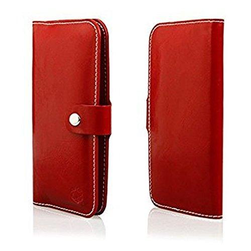 Portefeuille à rabat de protection Housse à rabat latéral Convient pour Huawei MATE 10 Lite – Housse Coque Etui Cover Book Case Portefeuille/Rouge Foncé