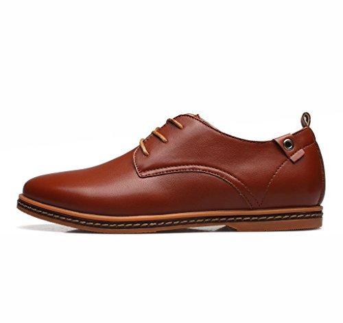 SITAILE Homme Mode Confort Classique Chaussures de ville à lacets pour Noir Oxfords Marron