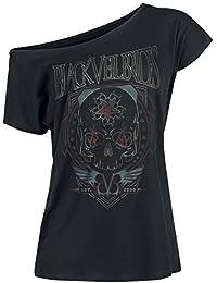 Black Veil Brides Skull Flames Girls Shirt Black