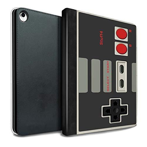 eSwish PU-Leder Hülle/Case/Brieftasche für iPad Pro 10.5 (2017) Tablet/Klassisches Nintendo Muster/Spielkonsolen Kollektion