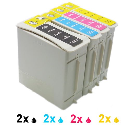 Compatible ink cartridge as Replacement for HP 88BK 88C 88M 88Y (2x Black, 2x Cyan, Magenta 2x, 2x Yellow)