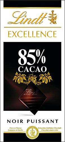 Lindt - Excellence Tablette de Chocolat Noir 85% - 100 g - Lot de 5 Tablettes