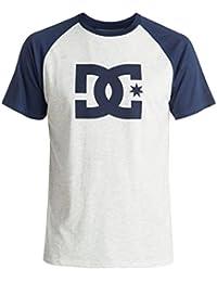 DC Shoes Men's Star Raglan SS T Shirt Light Gray Summer Blue 2XL