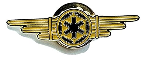 Star Wars Gold Imperial Crew Tie Fighter Coulisses Cosplay Metal Pin Badge