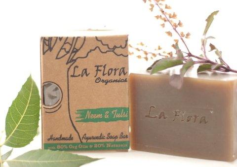 La Flora Organics Ayurvedic Soap Bar-Neem Tulsi