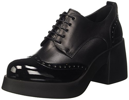 Cult Abba, Scarpe Stringate Basse Oxford Donna Nero (Black Black)