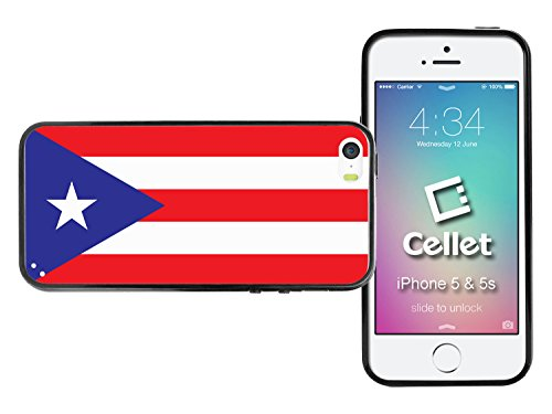 Cellet Proguard Fall mit Puerto Rico Flagge für Apple iPhone 5 - Weiß