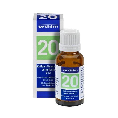 Schuessler Globuli Nr. 20 - Kalium-Alu. sulfuricum D12 - gluten- und laktosefrei