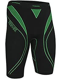 Tervel Men's Optiline Running Shorts Black/Green