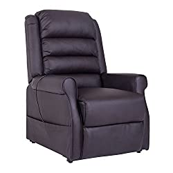 HOMCOM Electric armchair Recliner Recliner Armchair with motor and Aufstehlhilfe Braun