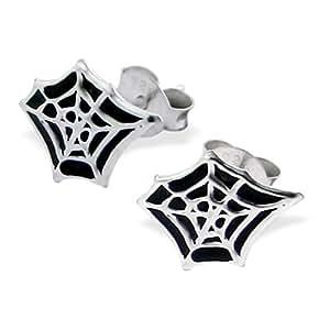 Spiderweb Spiderman-Boucles d'oreille clous en argent Sterling pour enfant Par Kate Benson