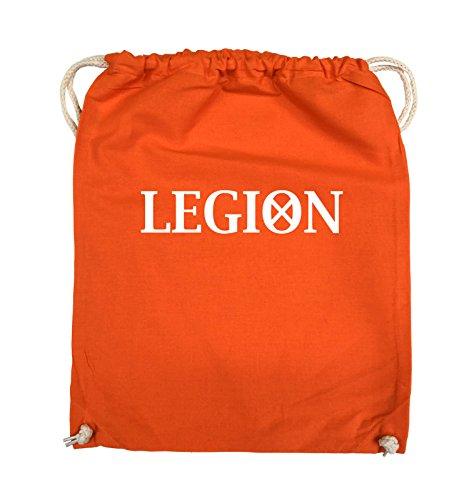 Borse Da Commedia - Legion - Logo2 - Borsa Da Giro - 37x46cm - Colore: Nero / Argento Arancio / Bianco