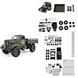 Diuspeed JJRC Q61 Four-drive Tracked Off-Road Control remoto militar Toy Car DIY Montaje manual de juguetes Accesorios