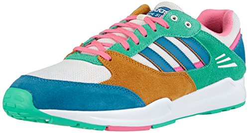adidas Tech Super, Damen Sneakers, Mehrfarbig (Solo Mint F14-St / Hero Blue F13 / Neon Pink), 39 1/3
