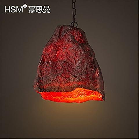SQIAO Modern LED Pendant Lights Le restaurant-café-bar boutiques en pierre volcanique Lampes Lustre 32*20*38cm
