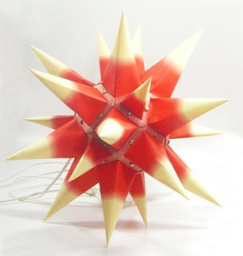 I6, roter Kern / gelbe Spitzen, Weihnachtsstern Herrnhut für Innen, aus Papie... -