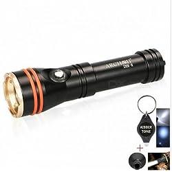 Générique Archon D11V-ii CREE XM-L2U2Mer plongée lampe de poche avec tube de BEEM