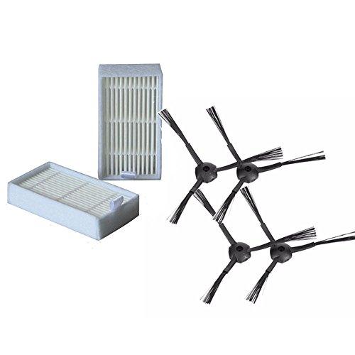 NTNT 2 Paar Ersatzbürsten & 2 Hepa-Filter für Medion MD 16192