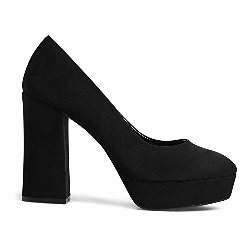 Marks & Spencer M&S Collection T020159 Block Heel Closed Toe Platform Court...