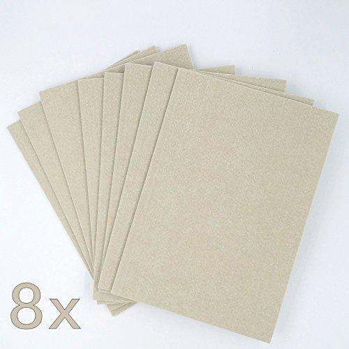 JZK® 8 x A4 tamaño almohadilla fieltro adhesivo con adhesivo autoadhesivo, almohadilla muebles, gato DIY que rasguña estera, protector suelo fieltro alfombra fieltro para pierna los muebles