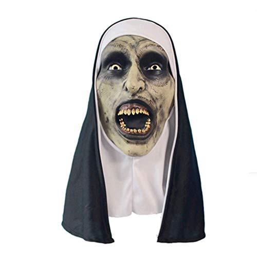 Für Kostüm Erwachsene Trauer - LLU Trauer 2 Schwester Masken Horror Grimasse Halloween Kopfbedeckungen Consternation Ganz Latex Maske Party Maske