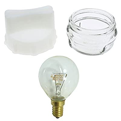 Glas Lampe Glühbirne Abdeckung & Entfernung Werkzeuge Für Bosch Neff Siemens Öfen + Kostenlose 40W Glühbirne von Qualtex - Lampenhans.de