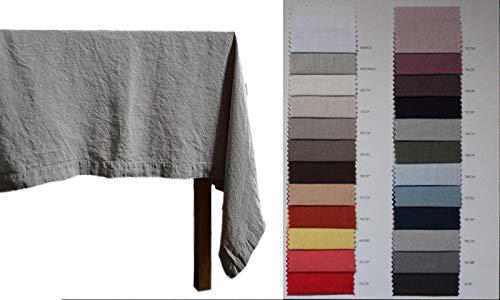 Ricami fiorentini tovaglia puro lino 100% effetto vintage/no stiro. anche su misura. prodotto artigianale toscano
