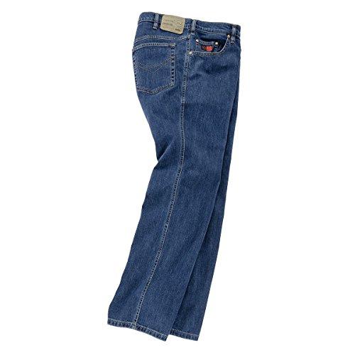 Revils XXL Stretch-Jeans denimblau Stone-Washed, Amerik. Hosengröße in inch:58/30 (Jeans 58x30 Herren Größe)